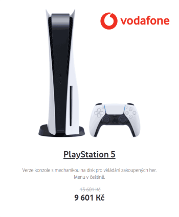 Vodafone PlayStation 5 za super cenu
