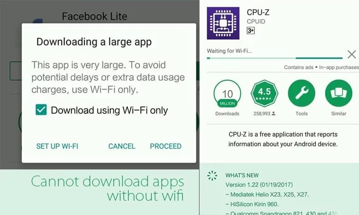 Play Store Waiting for WiFi
