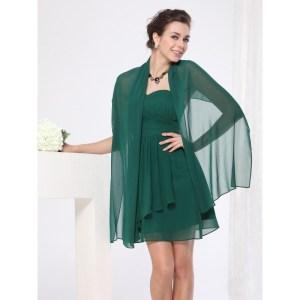 ineguagliabile saldi fashion design EVA & LOLA STOLA ELEGANTE PER ABITI CERIMONIA COLORE VERDE ...