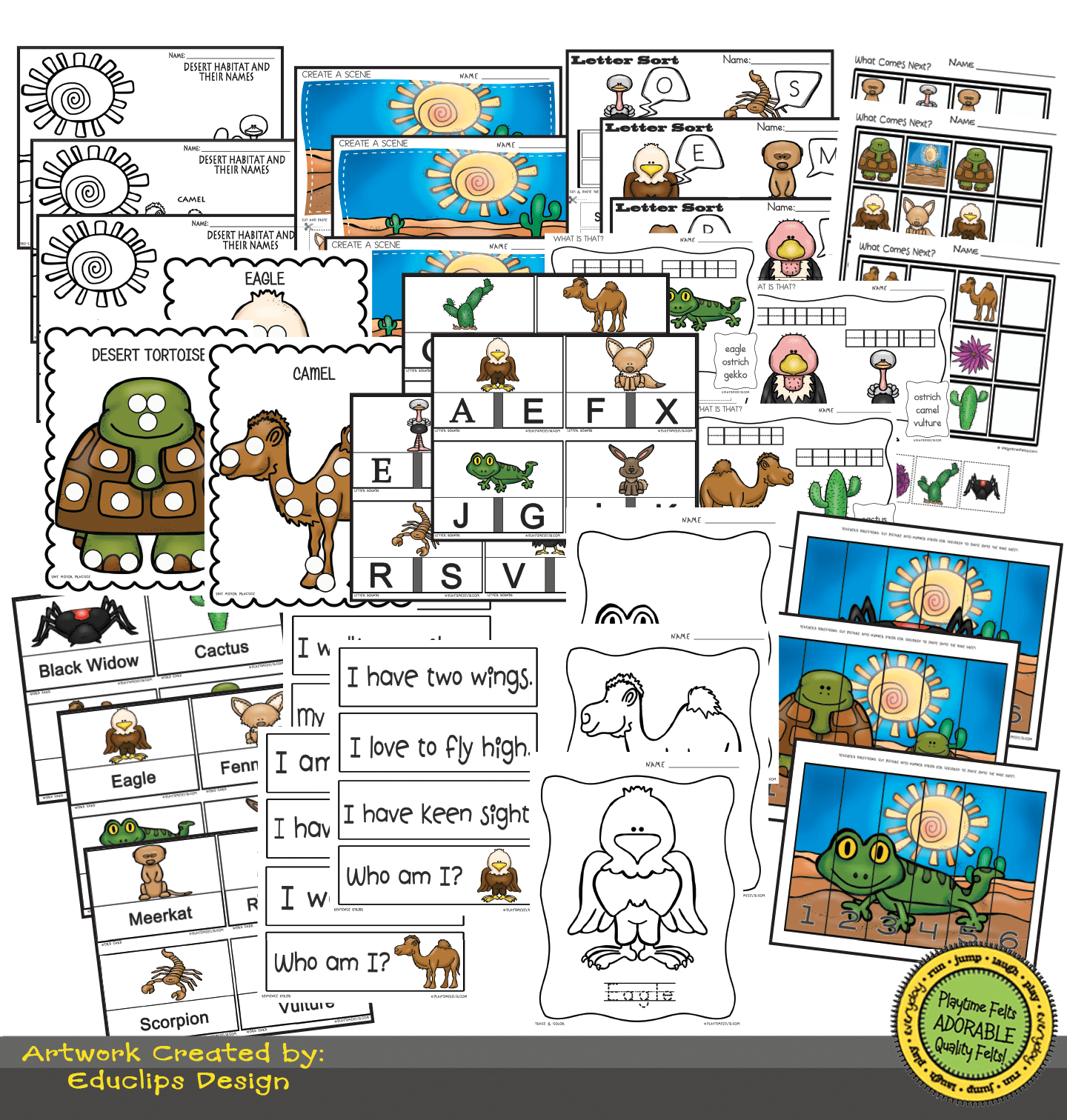 Desert Habitat Activity Worksheets For Preschool By