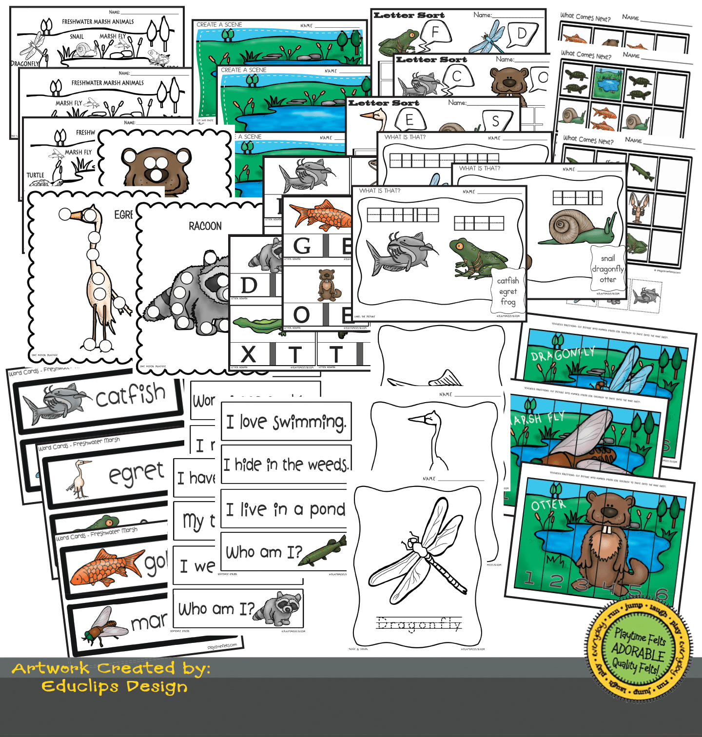 Freshwater Habitat Worksheets For Preschool