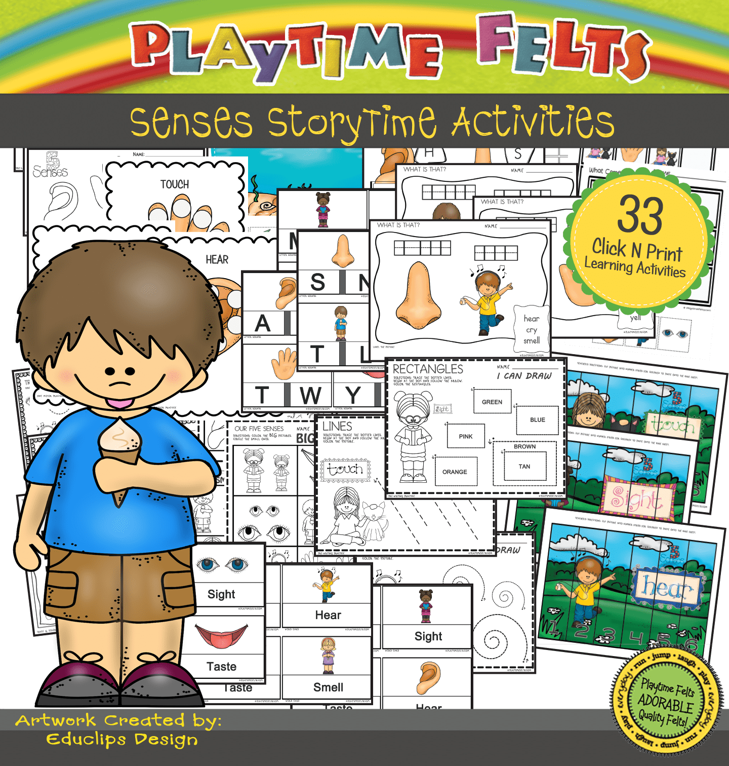 Our Five Senses Prek Worksheets