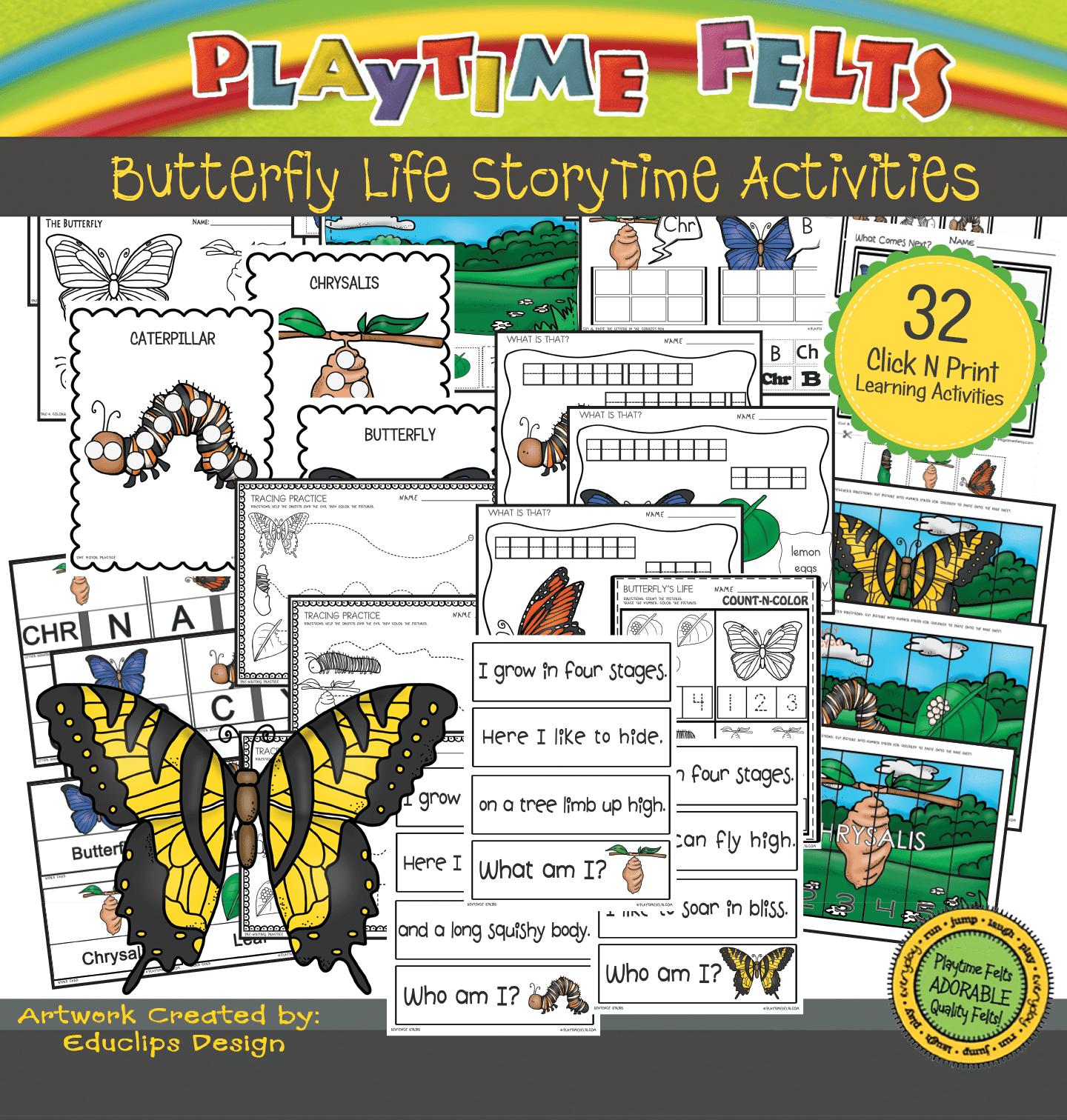 Butterfly Life Activities For Preschool