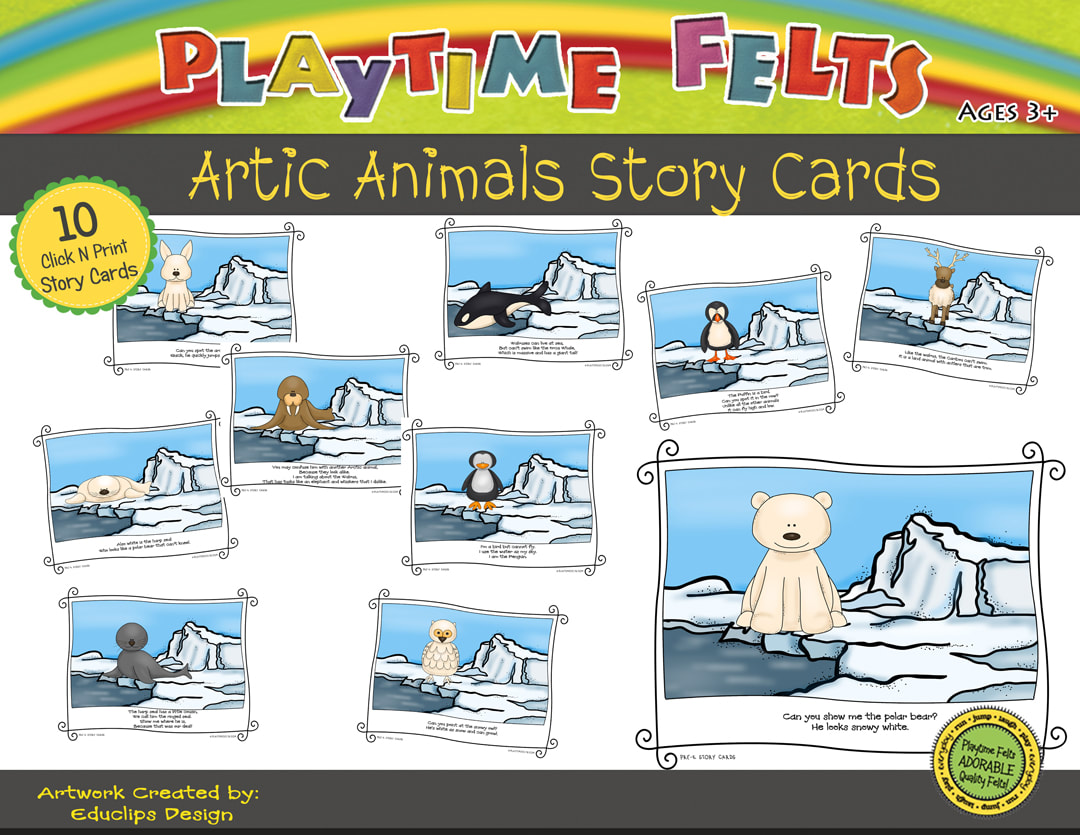 Arctic Animals Printable Story Cards Digi Download