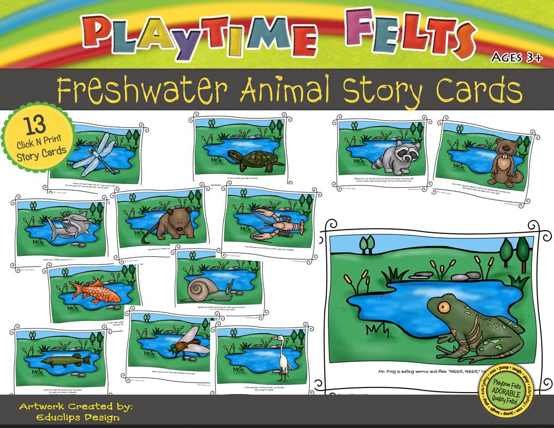 Freshwater Animals Printable Story Cards Digi Download