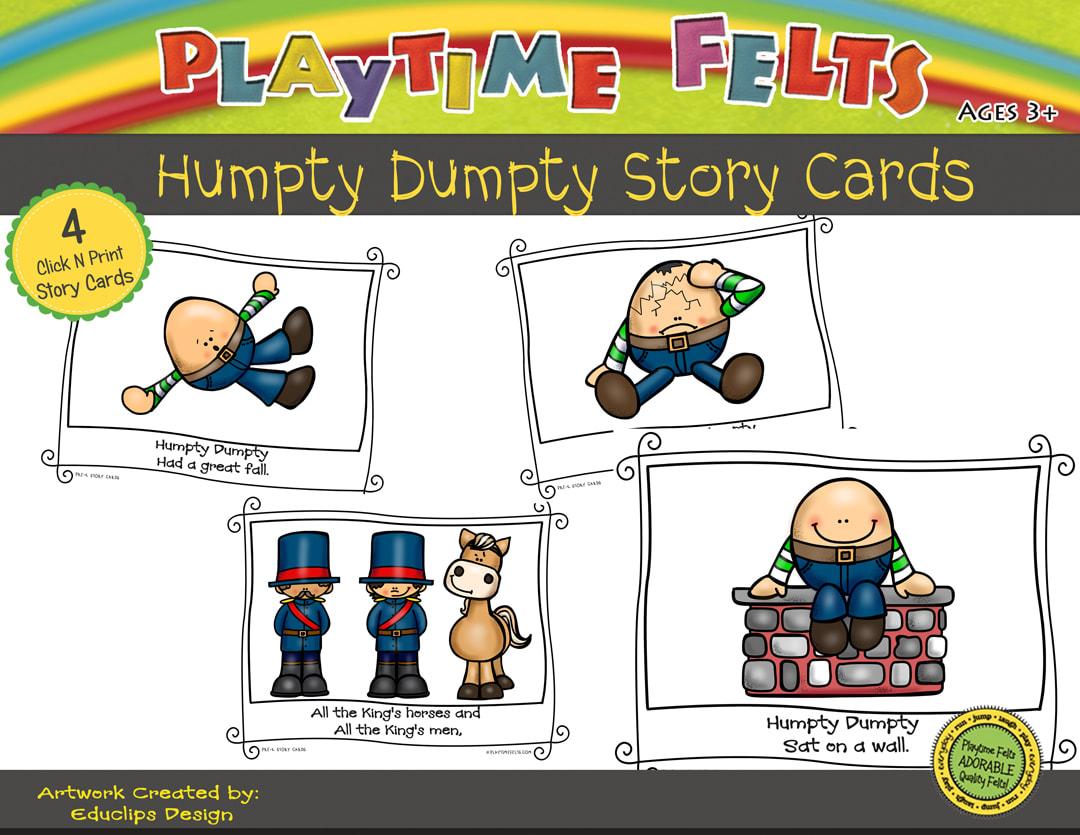 Humpty Dumpty Printable Story Cards Digi Download