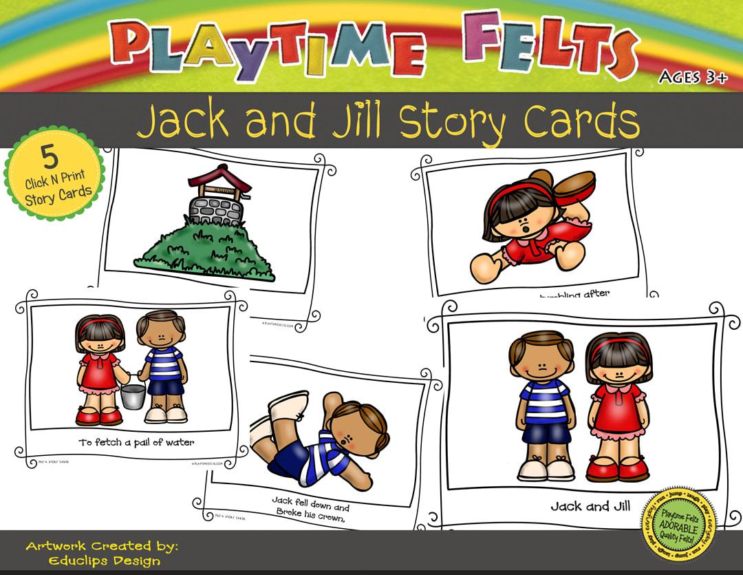 Jack And Jill Printable Story Cards Digi Download