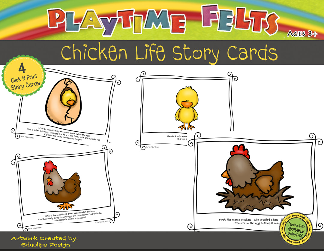 Chicken Life Cycle Printable Story Cards Digi Download