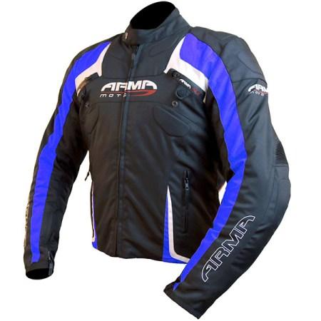 Armr Moto Eyoshi Motorcycle Jacket Black/Blue