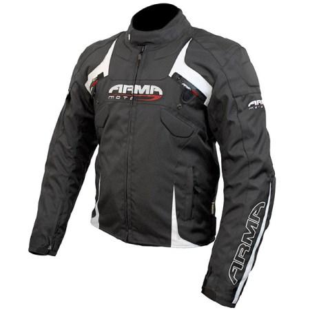 Armr Moto Eyoshi Motorcycle Jacket Black/White