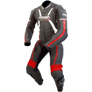 Armr Moto Harada R Leather Motorcycle Suit Black/Red