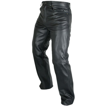 Armr Moto Kenji Leather Motorcycle Jeans Black
