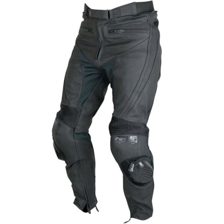 Armr Moto Raiden Leather Motorcycle Jeans Black
