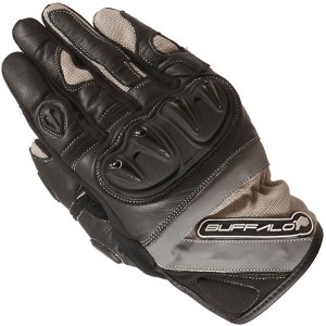Buffalo Radar Motorcycle Gloves Black/Stone