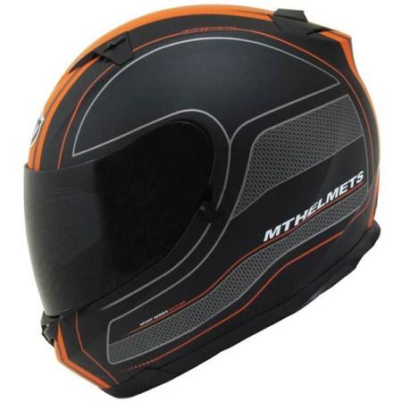 MT Blade SV Race Line Motorcycle Helmet Matt Black/Orange