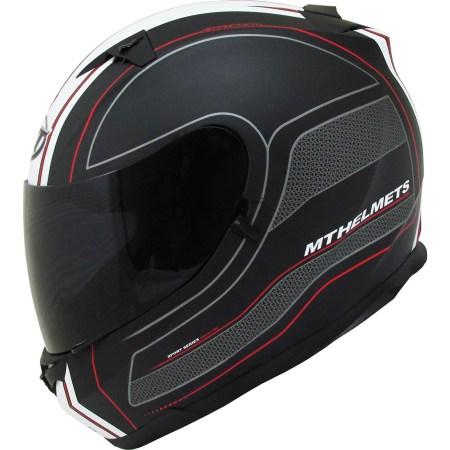 MT Blade SV Race Line Motorcycle Helmet Matt Black/Red
