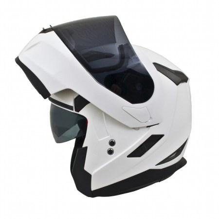 MT Flux Motorcycle Helmet Gloss White