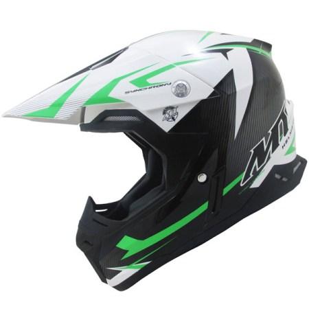 MT Synchrony Steel Motocross Helmet Black/Green