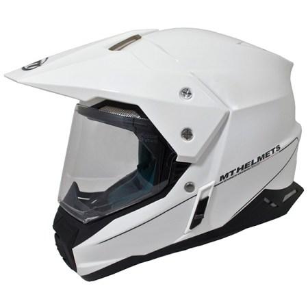 MT Synchrony Dual Sport Helmet - Gloss White