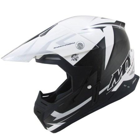 MT Synchrony Steel Motocross Helmet Black/Grey