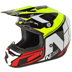 Nitro MX600 Holeshot Motocross Helmet Black/Yellow