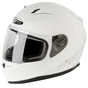Nitro N2100 Uno Motorcycle Helmet Gloss White