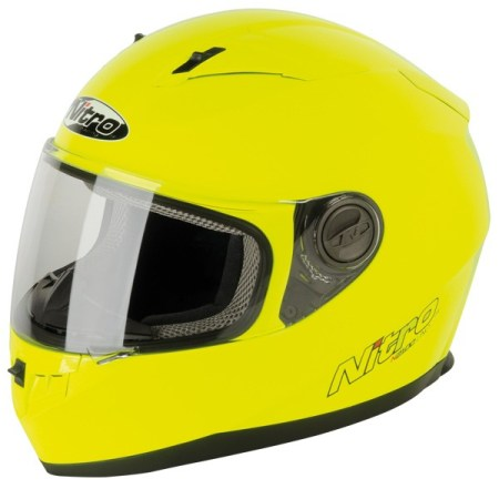 Nitro N2100 Uno Motorcycle Helmet Yellow