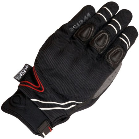 Weise Wave Motorcycle Gloves Black