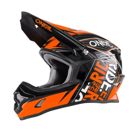 Oneal 3 Series Fuel Motocross Helmet Black/Orange
