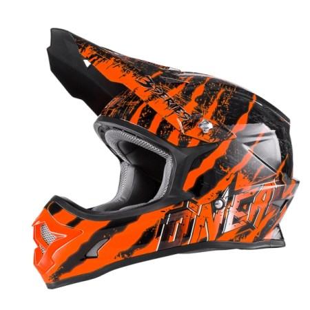 Oneal 3 Series Mercury Motocross Helmet Black/Orange