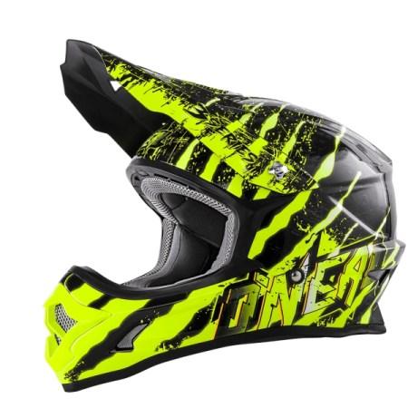 Oneal 3 Series Mercury Motocross Helmet Black/Yellow