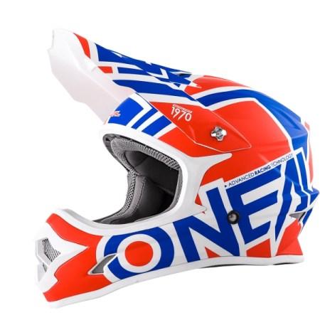 Oneal 3 Series Radium Motocross Helmet Red/Blue