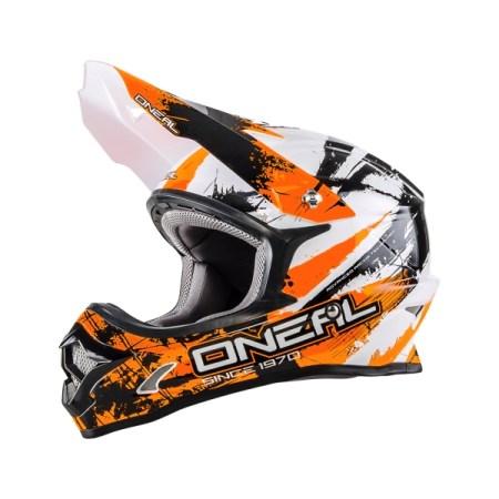 Oneal 3 Series Shocker Motocross Helmet Orange