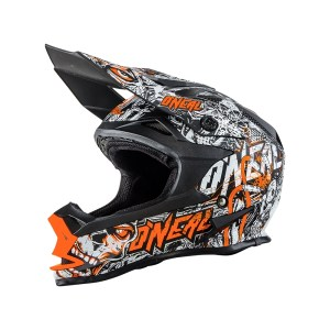 Oneal 7 Series Evo Menace Motocross Helmet Orange