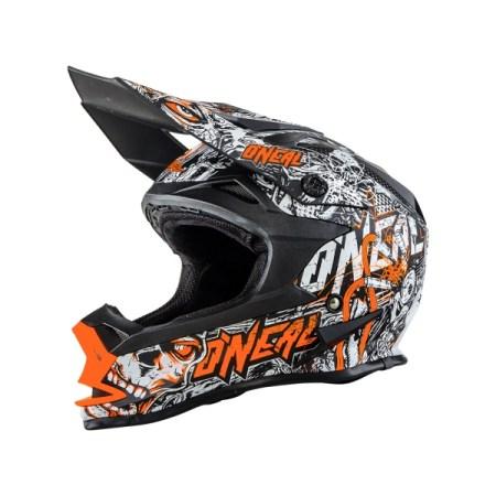 Oneal 7 Series Evo Menace Motocross Helmet Orange