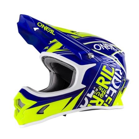 Oneal 3 Series Fuel Motocross Helmet Blue