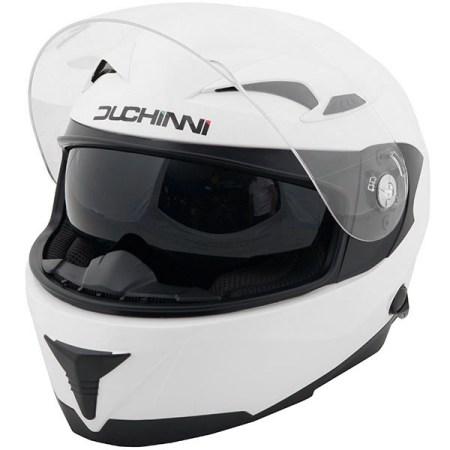 Duchinni D405 DVS Motorcycle Helmet - White