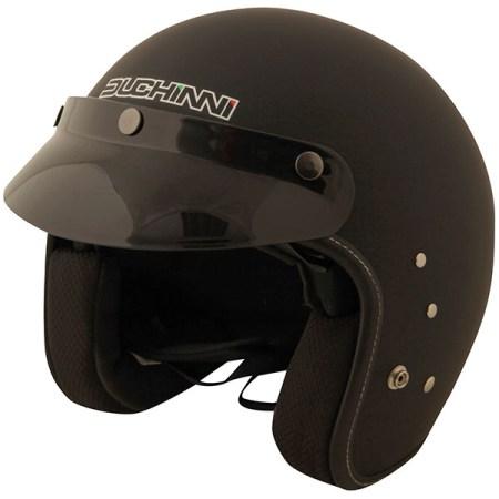 Duchinni D501 Open Face Motorcycle Helmet - Matt Black