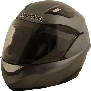 Duchinni D605 Flip Front Motorcycle Helmet Titanium