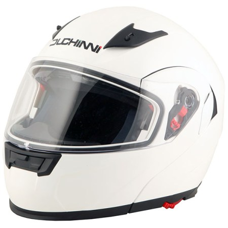 Duchinni D606 Flip Front Motorcycle Helmet - White