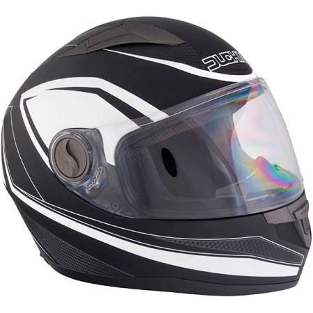 Duchinni D705 Synchro Motorcycle Helmet - Black