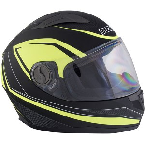 Duchinni D705 Synchro Motorcycle Helmet Yellow