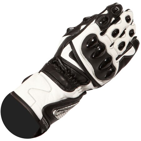 Buffalo BR30 Motorcycle Gloves - White