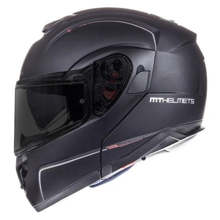 MT Atom Motorcycle Helmet - Matt Black