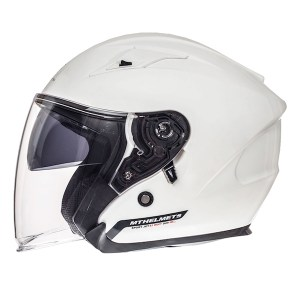 MT Avenue Open Face Motorcycle Helmet White