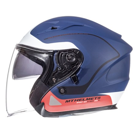 MT Avenue Open Face Motorcycle Helmet - Matt Blue