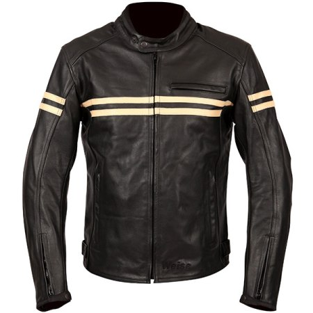 Weise Brunel Leather Motorcycle Jacket - Black