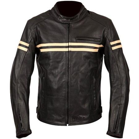 Weise Brunel Leather Motorcycle Jacket - Black