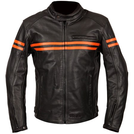 Weise Brunel Leather Motorcycle Jacket - Orange