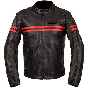 Weise Brunel Leather Motorcycle Jacket Red